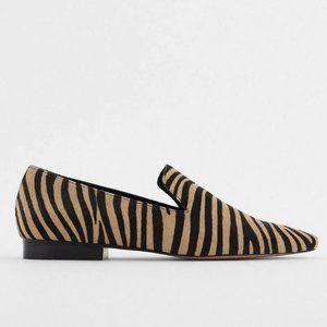 🔥MOVING SALE🔥NEW ZARA LEATHER Zebra Flats